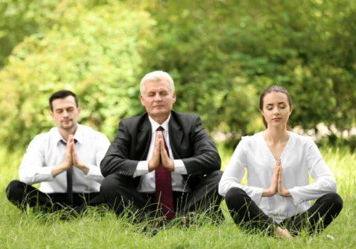 Meditation auf der Wiese