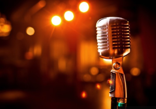 Mikrofon im QQ_C Quatsch Comedy CLub