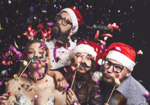 Witzige Gruppenbilder zu Weihnachten